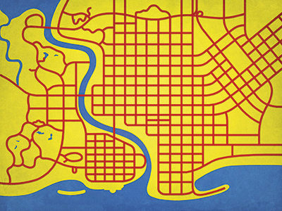 The Simpsons Map