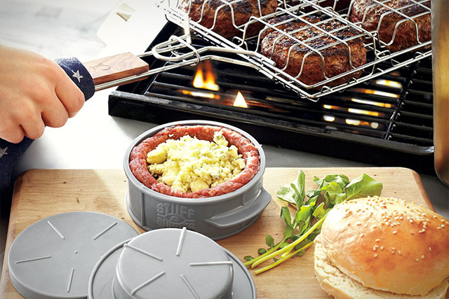 Stuff-A-Burger Press Makes It Easy To Create Stuffed Burgers