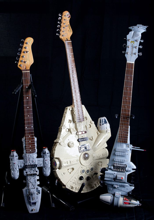 custom electric guitars shaped like spaceships from star wars. Black Bedroom Furniture Sets. Home Design Ideas