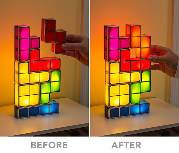 Tetris Stackable LED Desk Lamp - Stackable LED Desk Lamp