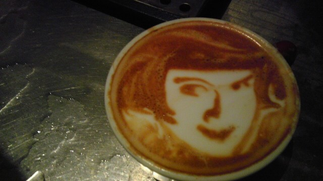 Latte art portraits by Mike Breach