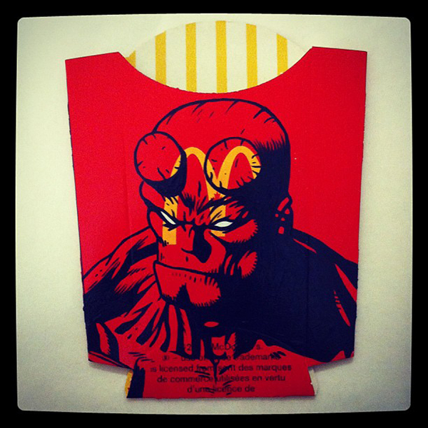 Hellboy With Fries