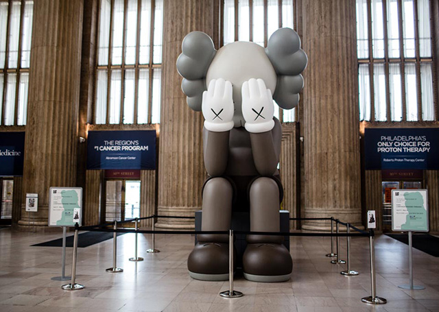 KAWS at 30th Street Station