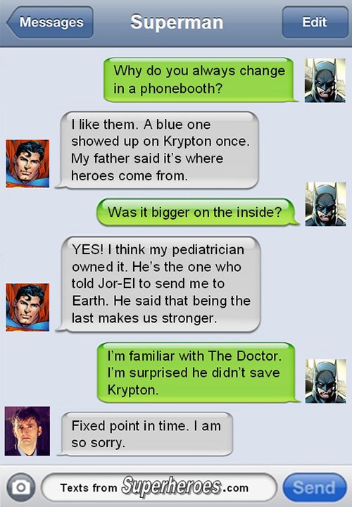 Texts From Superheroes, A Blog Featuring Witty Texts Between Comic Book Heroes & Villains
