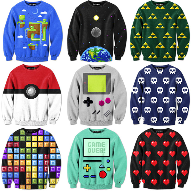 Pixel Art Sweatshirts by Drew Wise