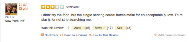 Yelp prison reviews