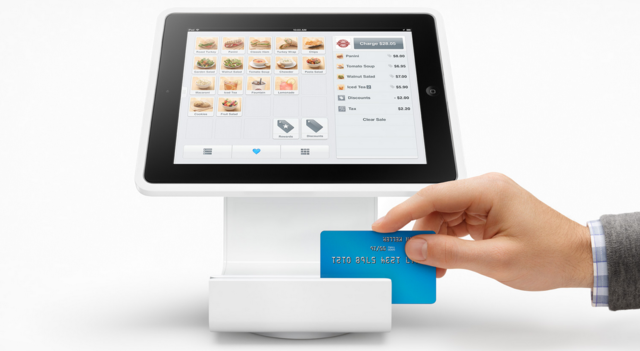 Square Stand An Ipad Payment Register With A Built In