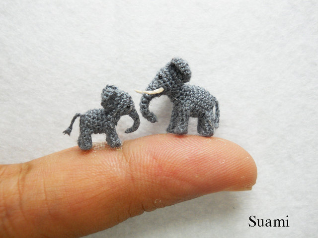 Teeny Tiny Crochet Animals That Are Smaller Than a Fingertip