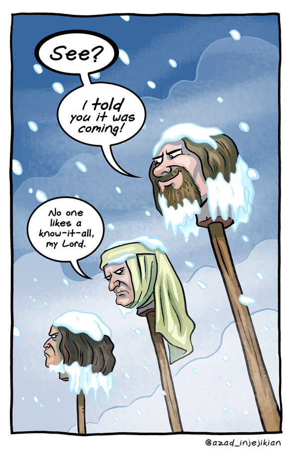 witty comics based on characters scenes from game of thrones