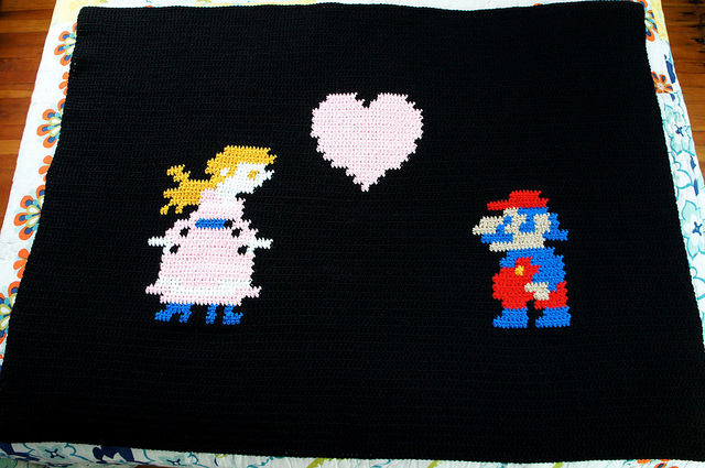 Princess Peach Hearts Mario Throw