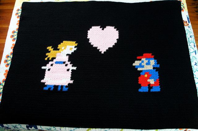 Princess Peach Hearts Mario Throw