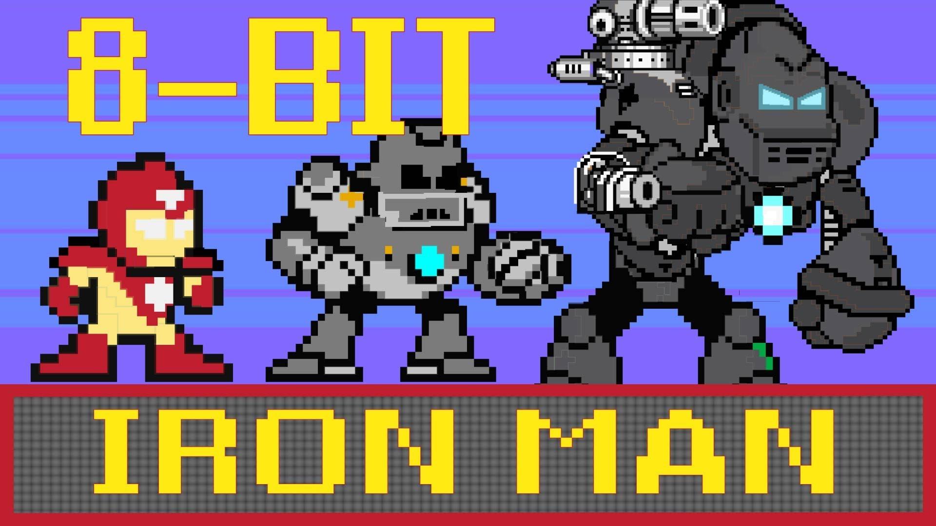 8-Bit Cinema: Iron Man Retold in 60 Animated Seconds
