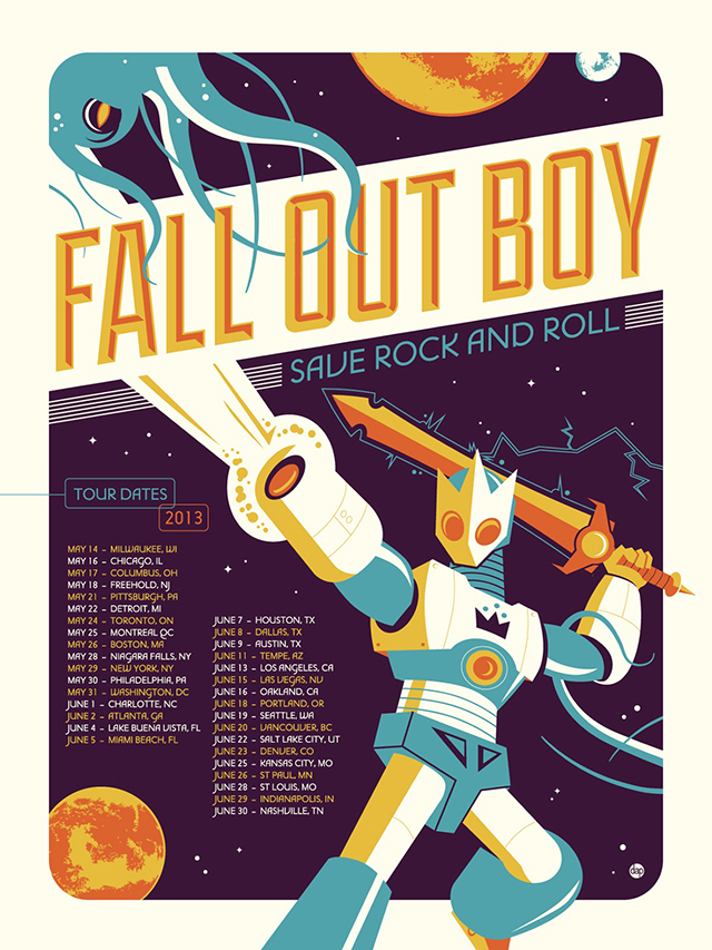 Fall Out Boy Poster by Dave Perillo