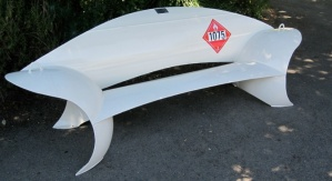 Recycled propane tank seating sculptures Colin Selig