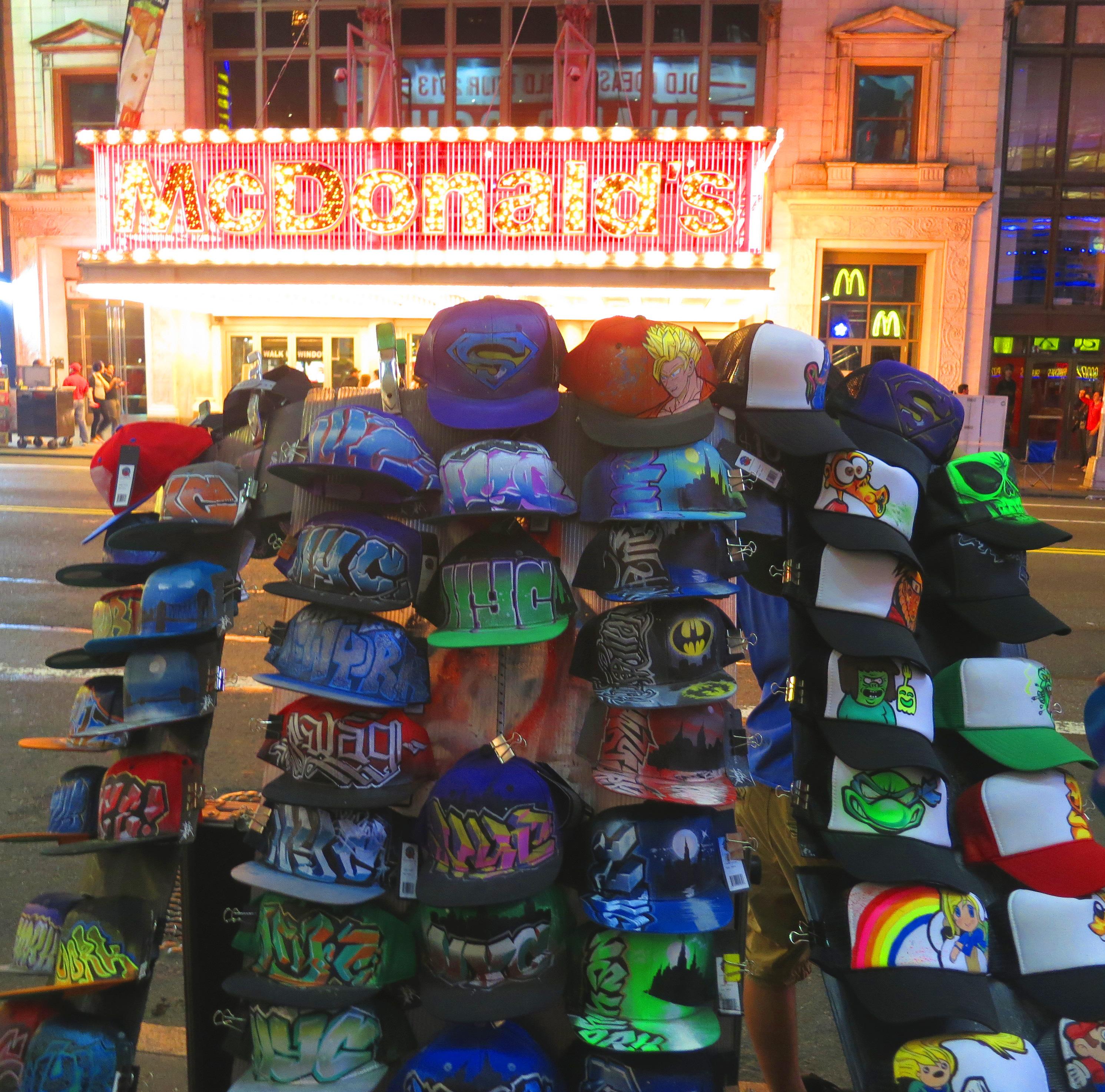 Unisex NYC Graffiti Cute Cartoon New York Mens Cute NYC-Graffiti-Cute-Cartoon-New-York Cap Hats Sun