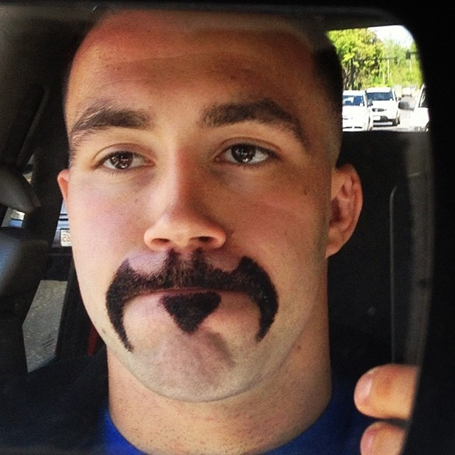 Guy Shaves His Facial Hair to Look Like the Batman Logo