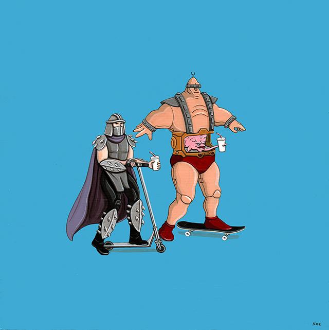 Shredder and Krang Ride