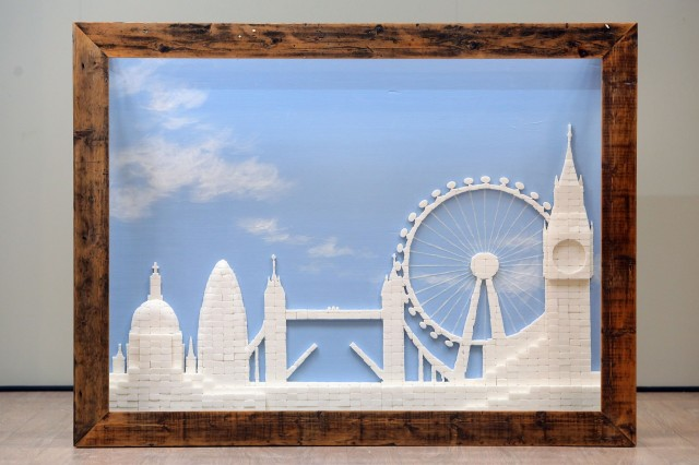 London skyline sugar cube sculpture by Chris Naylor
