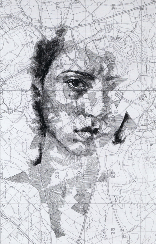 World War I Map Portraits by Ed Fairburn