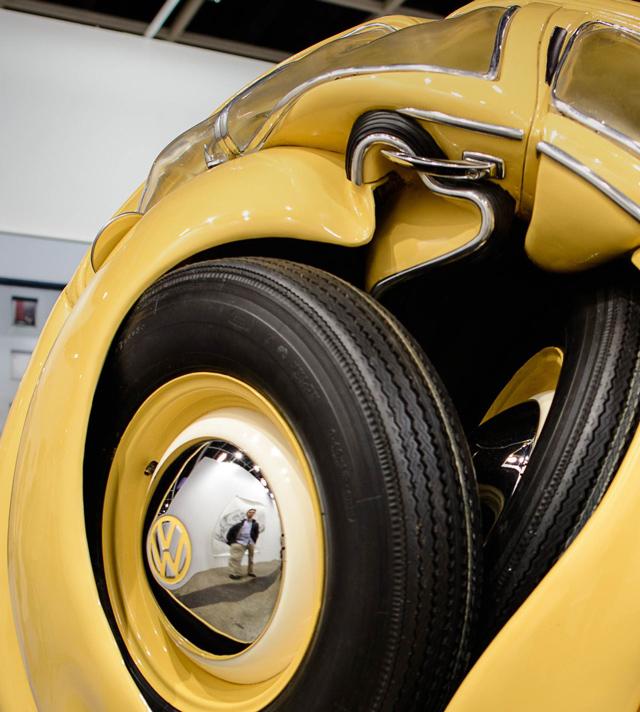 Beetle Sphere, 1953 Volkswagen Beetle Compressed into a Sphere
