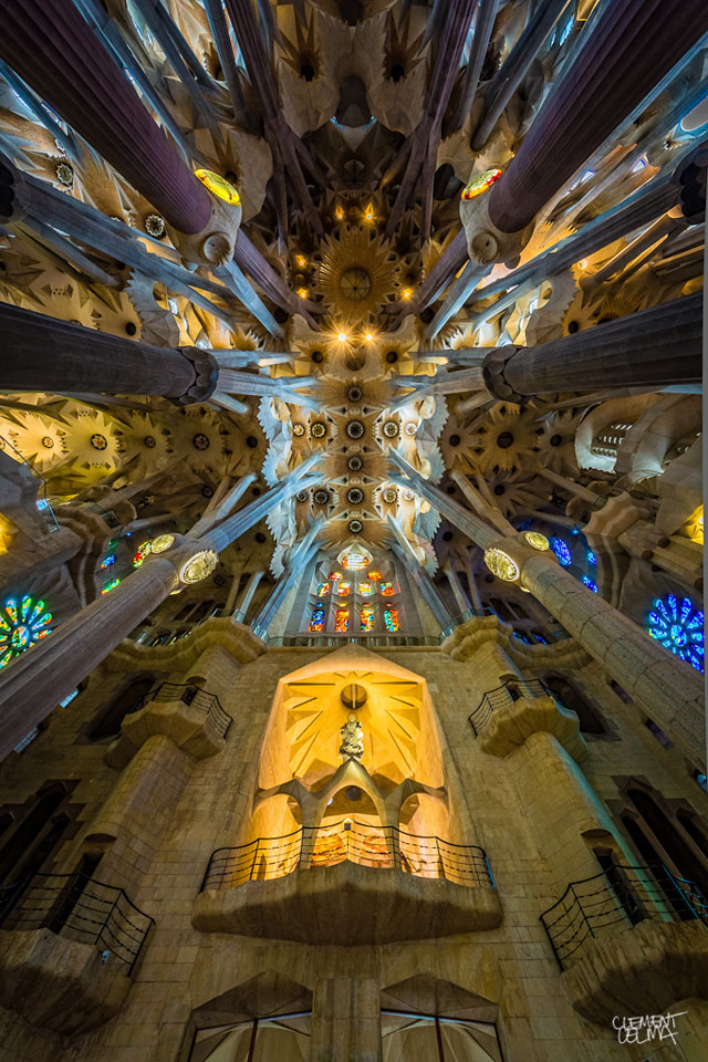 Wide-angle photos of the Sagrada Familia by Clement Celma