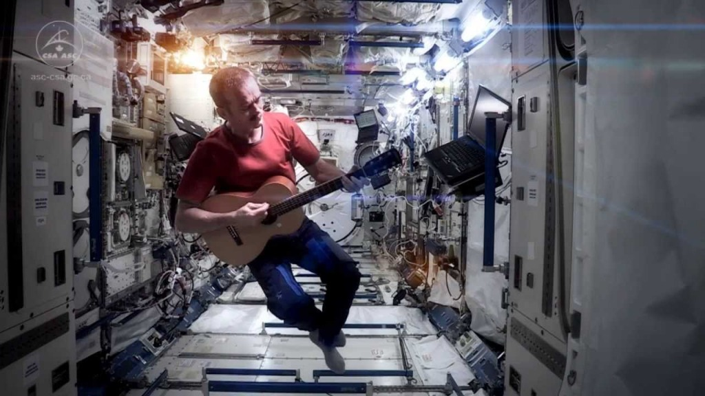 Astronaut Chris Hadfield Performs David Bowie's 'Space Oddity' Aboard the International Space Station