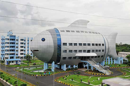 Fish office building in India