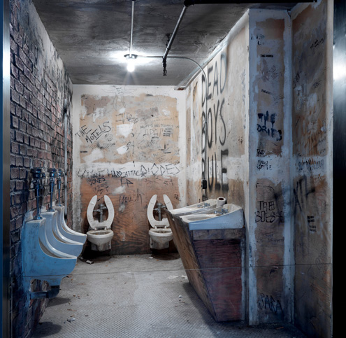 CBGB bathroom recreation at the Met
