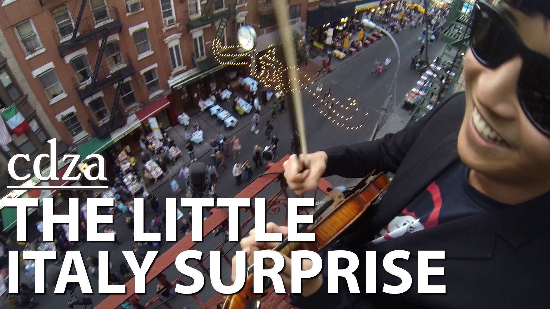 cdza Serenades Little Italy Tourists With 'That's Amore' & Other Music