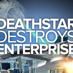 Death Star Destroys Enterprise, A Battle Between 'Star Wars' & 'Star Trek' Spacecraft in San Francisco
