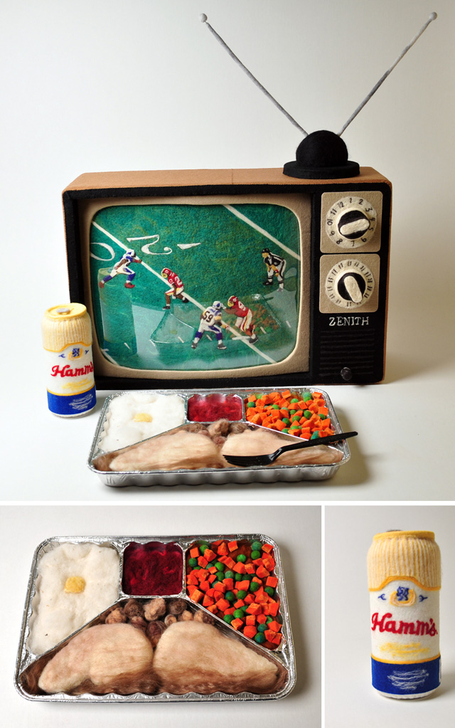 Felted TV Dinner