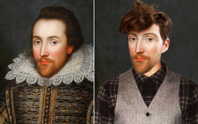 Illustrations of Historical Figures as They Might Appear Today