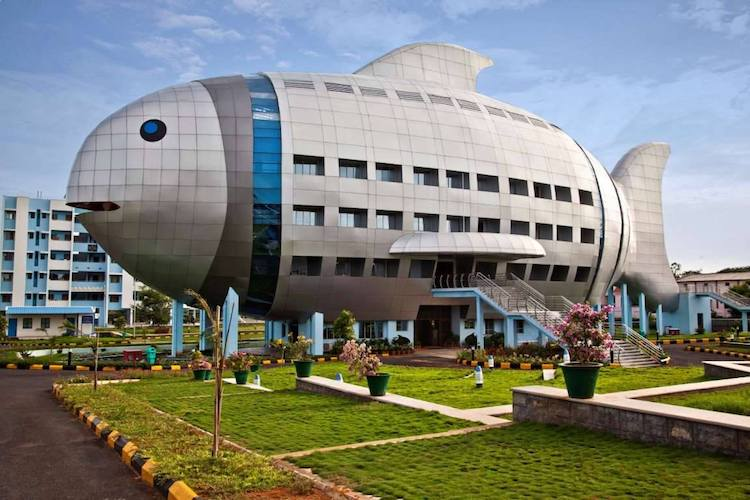 Fish-Shaped Office Building in Hyderabad, India