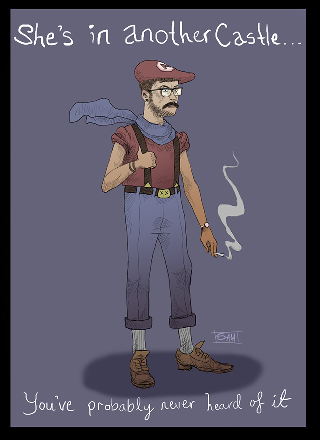 Super Mario Bros. Characters Reimagined as Hipsters
