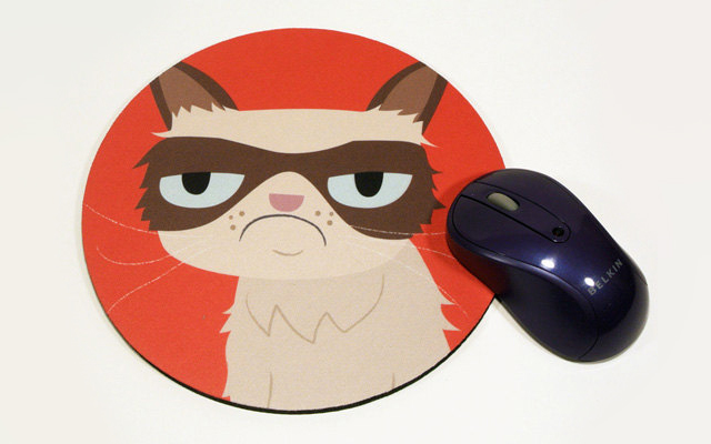 Grump Cat Mouse Pad