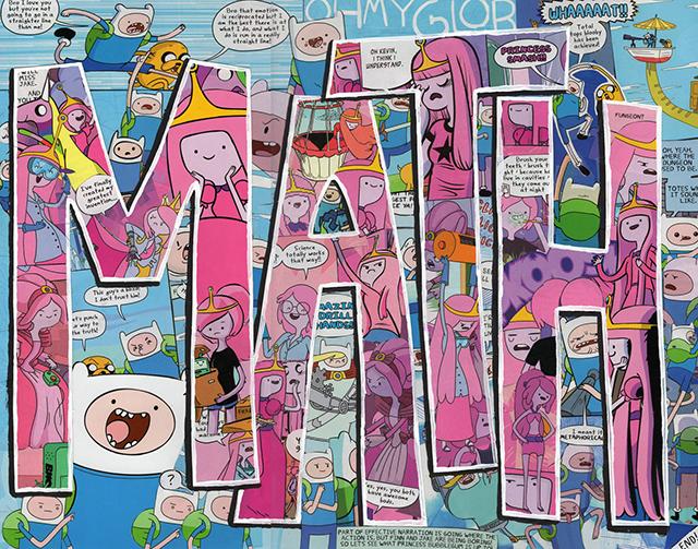 MATH Adventure Time Cartoon Comics Collage
