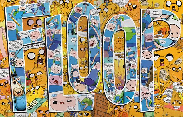 FLOOP Original Adventure Time Comics Collage