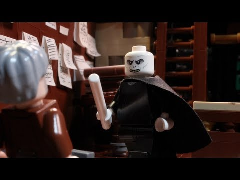 LEGO Lord Voldemort Goes Wand Shopping & Meets Gandalf the Grey