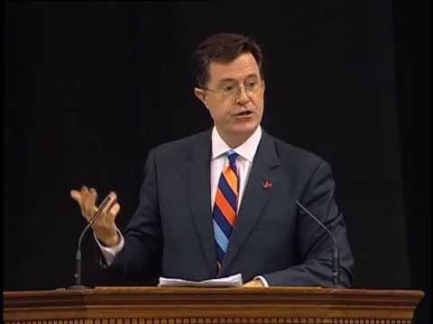 Stephen Colbert Gives Keynote Speech to 2013 University of Virginia Graduating Class