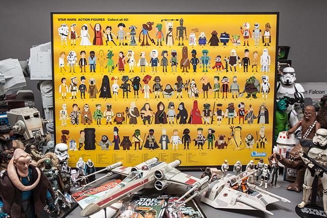 Star Wars Kenner Card Back Tribute Poster