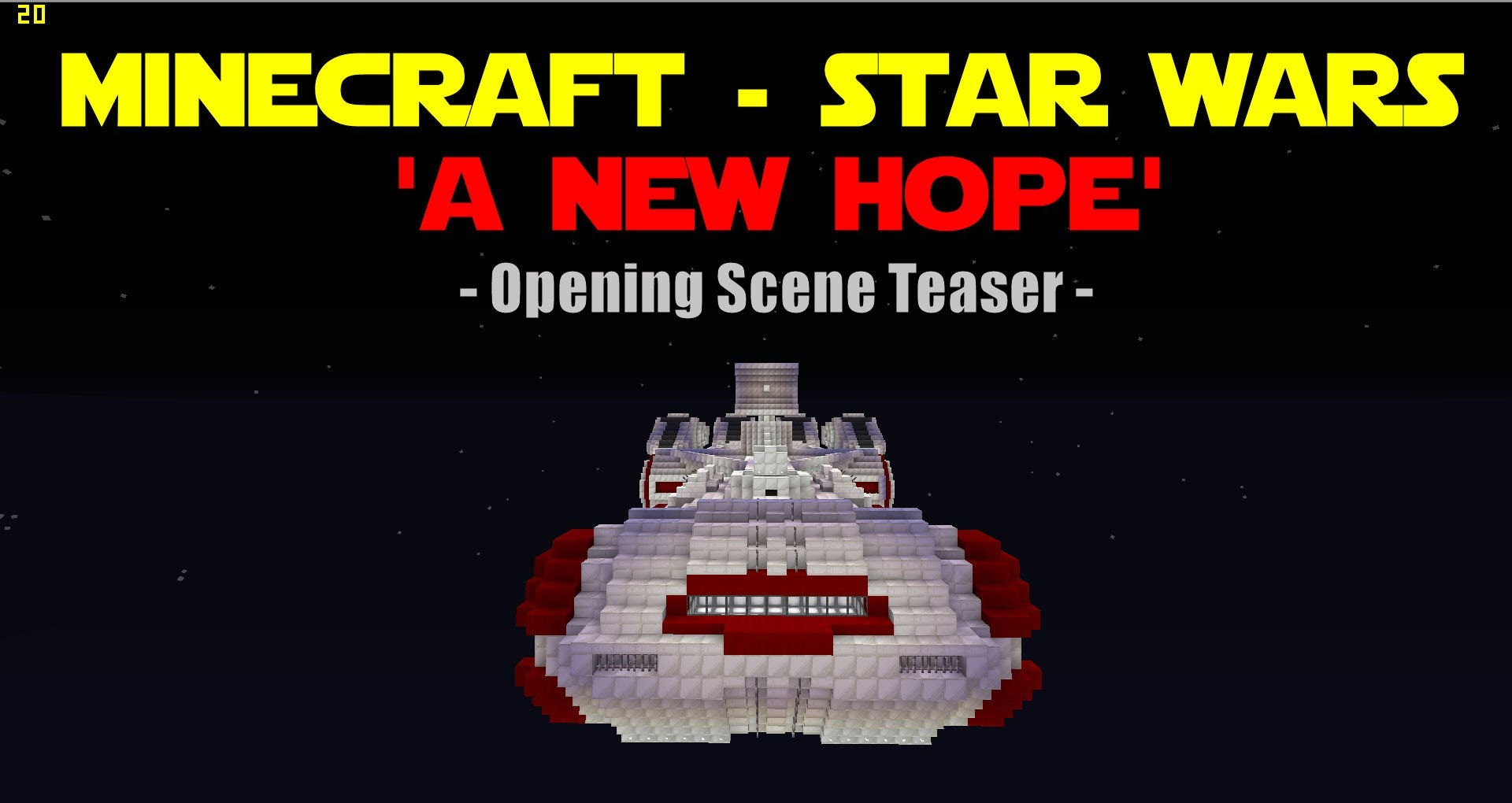 The Beginning of 'Star Wars Episode IV: A New Hope' & Other Iconic Scenes Recreated in 'Minecraft'