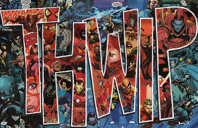 THWIP Original Spider-Man Comics Collage