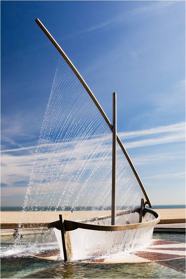 Water Boat Fountain