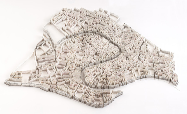 Historical Paper Map Sculptures