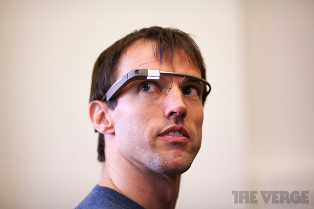 White Men Wearing Google Glass
