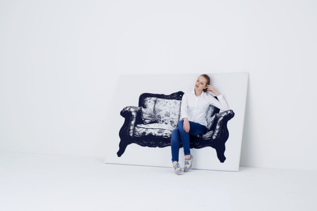 Canvas, A Picture of a Chair that Doubles as a Chair