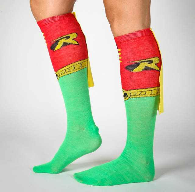 Robin Caped Knee High Socks - Superhero Knee High Socks With Capes