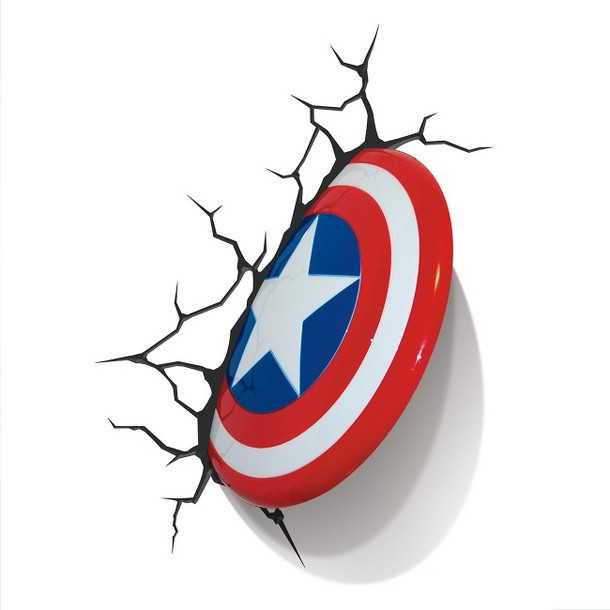 3D Captain America Shield Nightlight