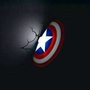 3D Wall Art Captain America Nightlight