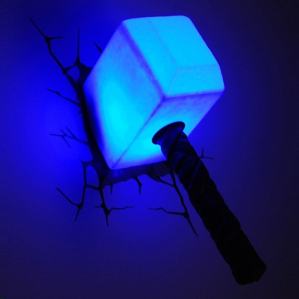 3D Thor Hammer Nightlight